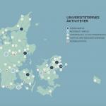Universiteternes aktiviteter i Danmark kortlagt